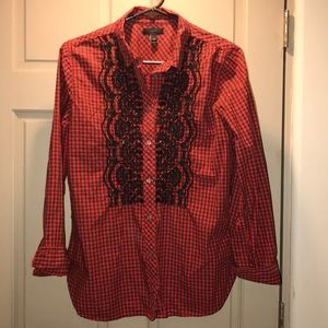 EUC J.Crew Embroidered and Sequin Button Down, 10
